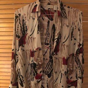 Patterned work shirt